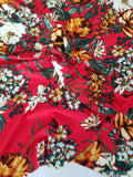 Liverpool Wildflowers Red Floral Knit