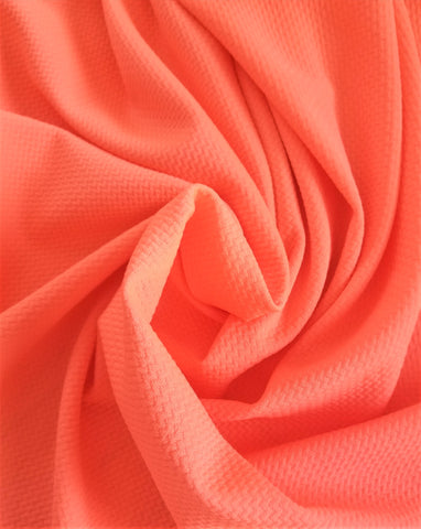 End of BOlt: 3.5 yards of  Paola Textured Neon Coral Bullet Liverpool Knit
