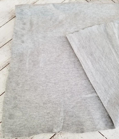 Famous Maker Modal Cotton Spandex Heather Gray French Terry Premium Knit