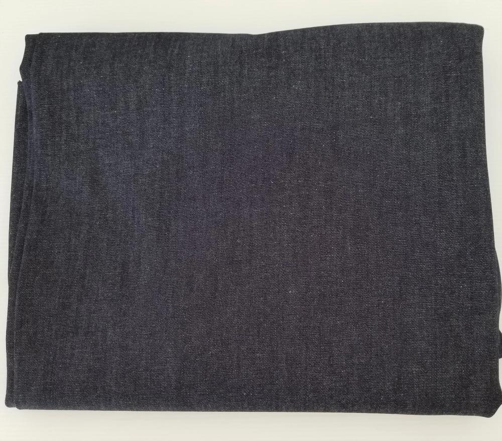 End of Bolt: 3.5 yards of Cone Mills Fashion Stretch Dark Indigo S-Gene 8 oz Denim Woven- Flaw