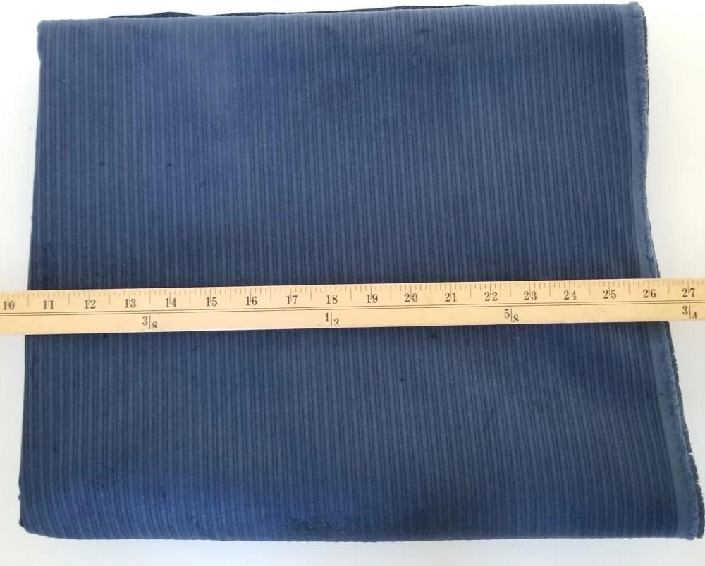 Famous Maker Fashion Corduroy Blue Wide Wale Woven