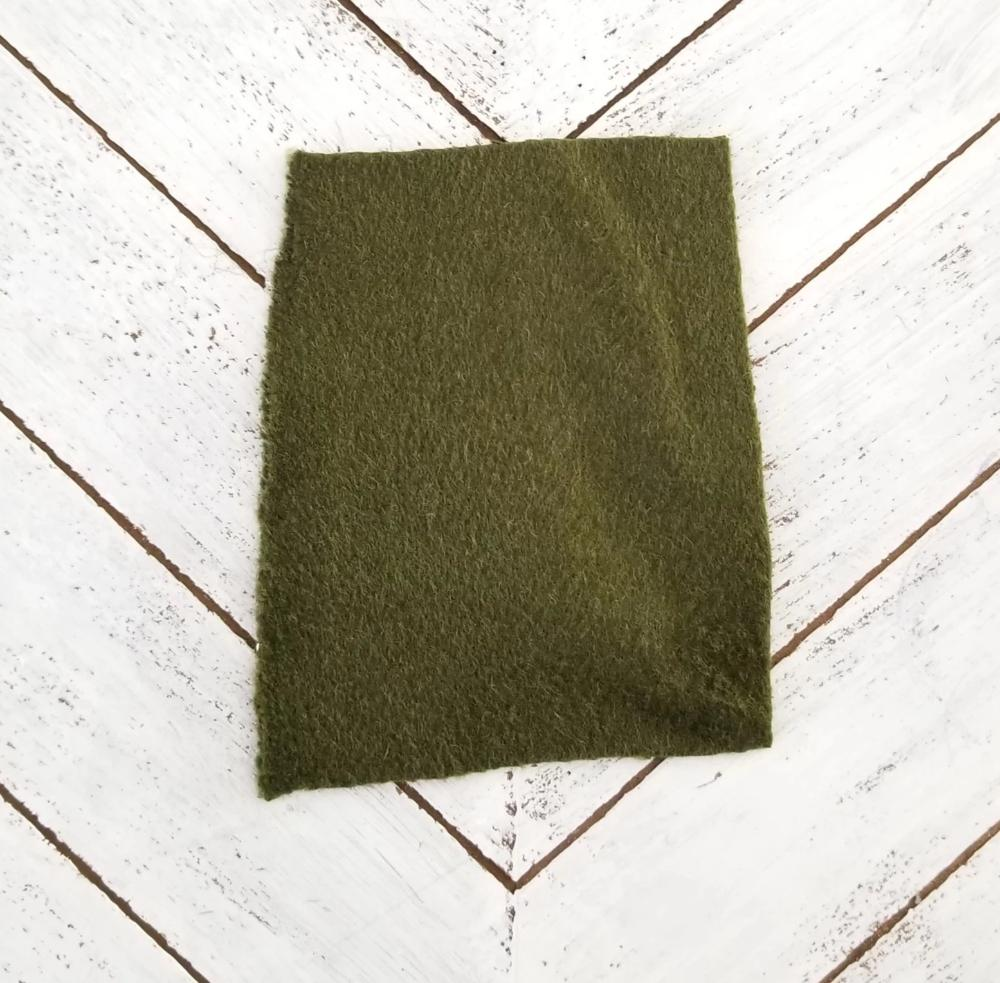 End of BOlt: 2-1/8th yards of Designer Dolan Meadows Green Wool Blend Coating Woven Sample Cut
