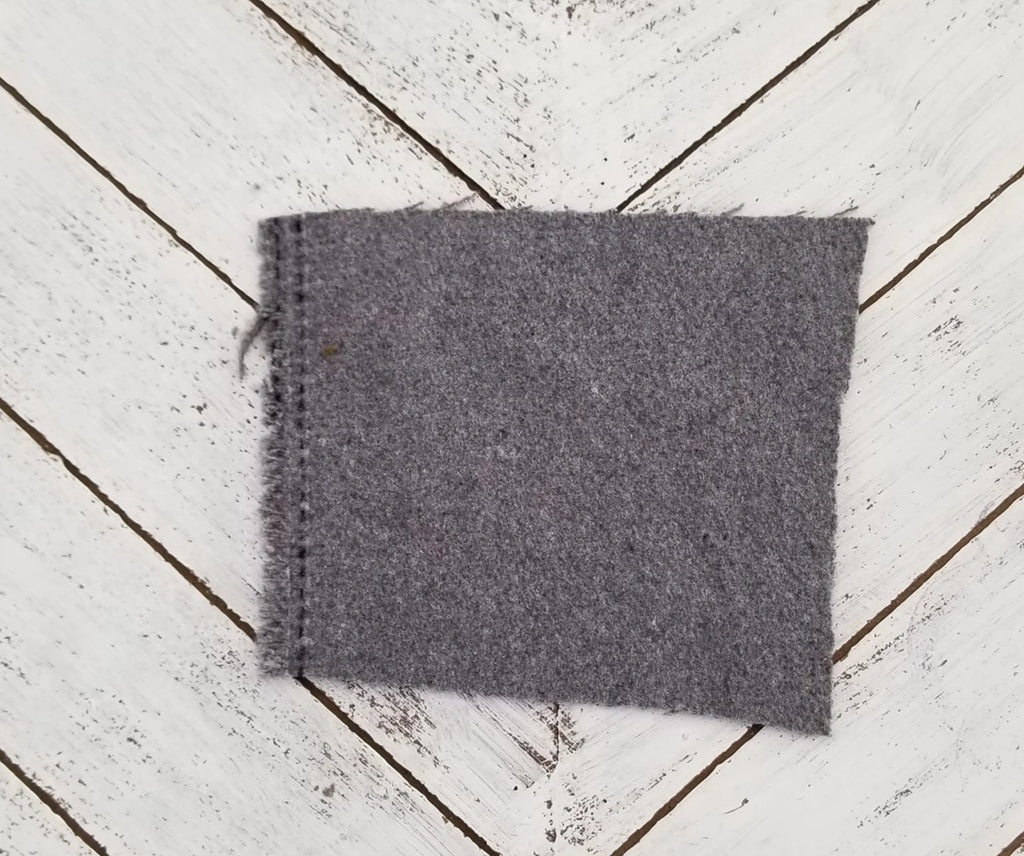 End of BOlt: 1 yard of Famous Maker Premium Soren Theory Heather Grey Wool Blend Coating Woven