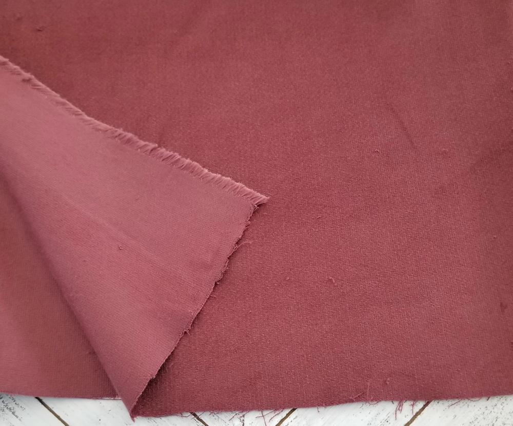 Designer Deep Rose Mauve Baby Corduroy Woven 8 oz- By the yard