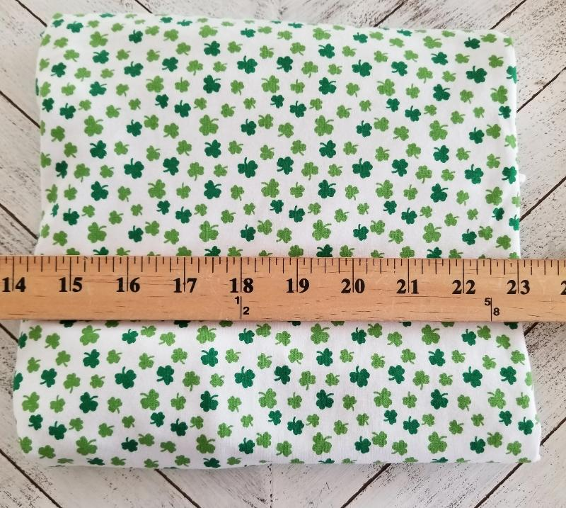 Cotton Spandex Lucky Green Clovers Knit