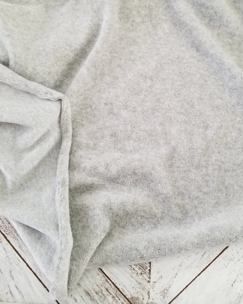 Famous Maker Gray Plush Soft Velour Knit