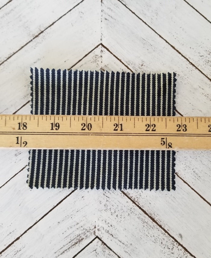 railroad denim by the yard. fashion stripe denim by the yard. LA FINCH FABRICS