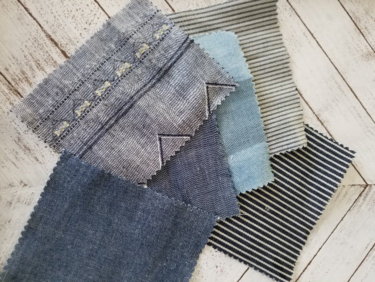 Designer Cotton Indigo Chambray Woven-Medium Weight 7 oz