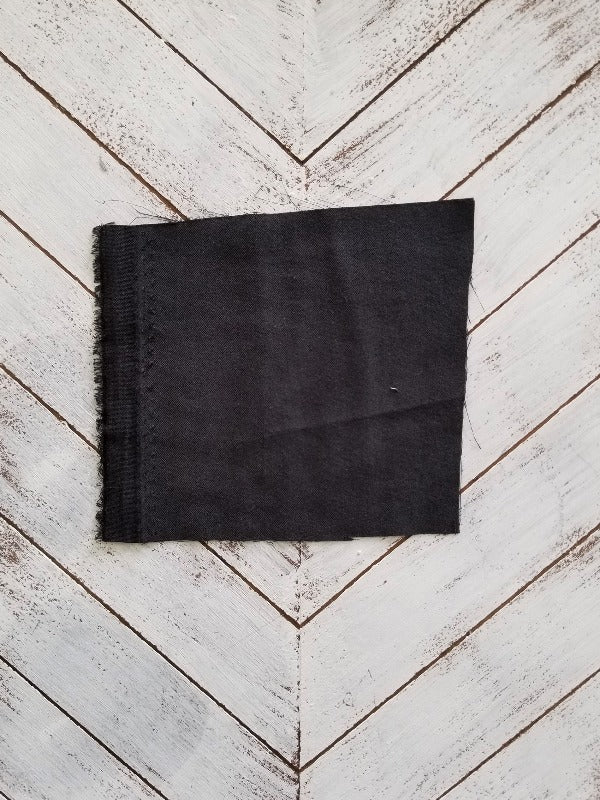 Famous Maker Sandwashed Modal Rayon Brushed Black Twill Woven- By the Yard