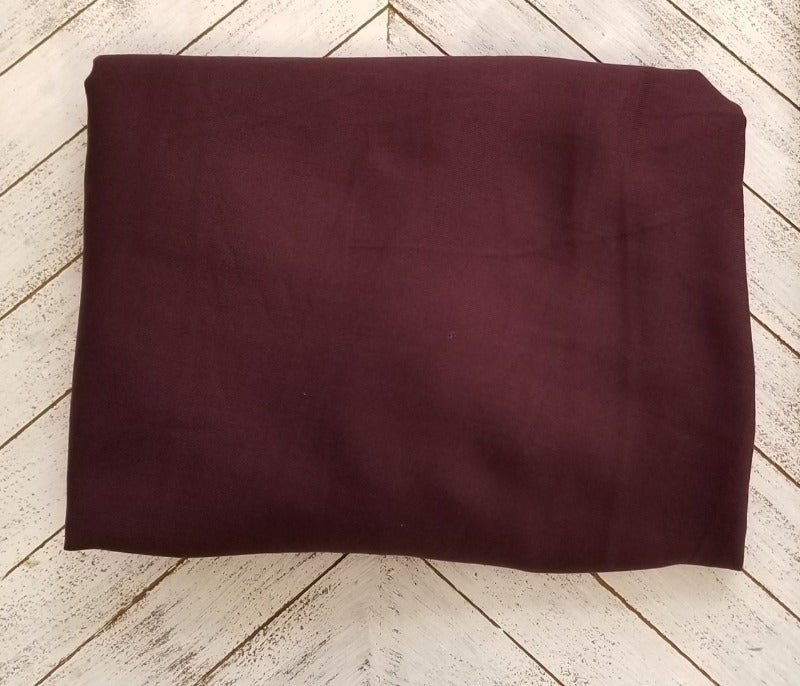 Famous Maker Rayon Twill Plum Woven-By The Yard