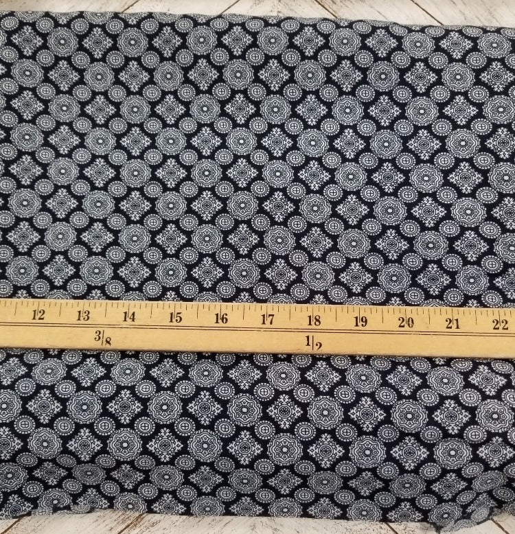 End of Bolt: 4 yards of Designer Rayon Challis Foulard Woven-Remnant