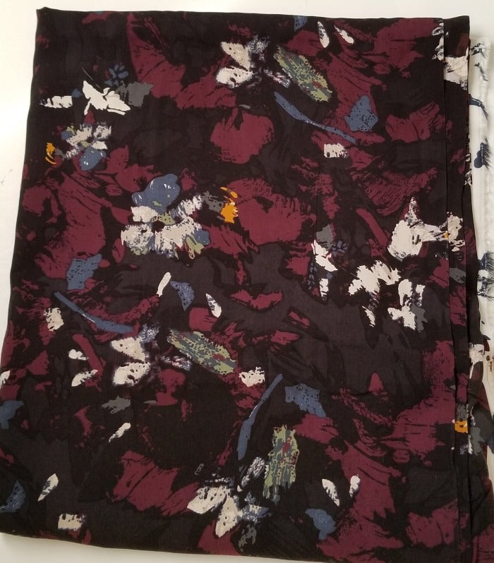 Sundown Designer Floral Rayon Challis Woven-Sold by the yard