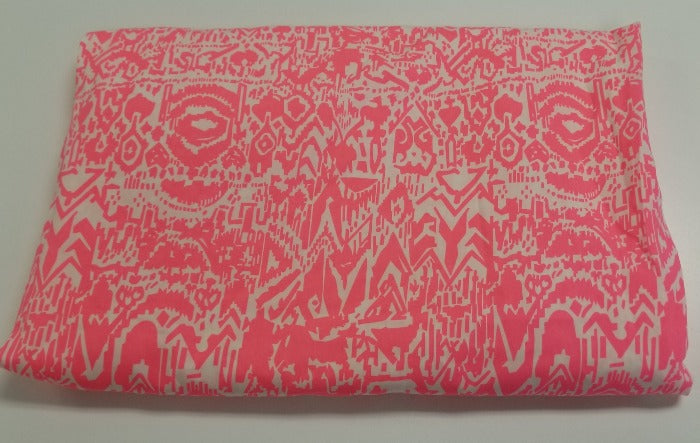 End of Bolt: 1-5/8th yards of Hot Pink Boho Rayon Challis Woven-remnant