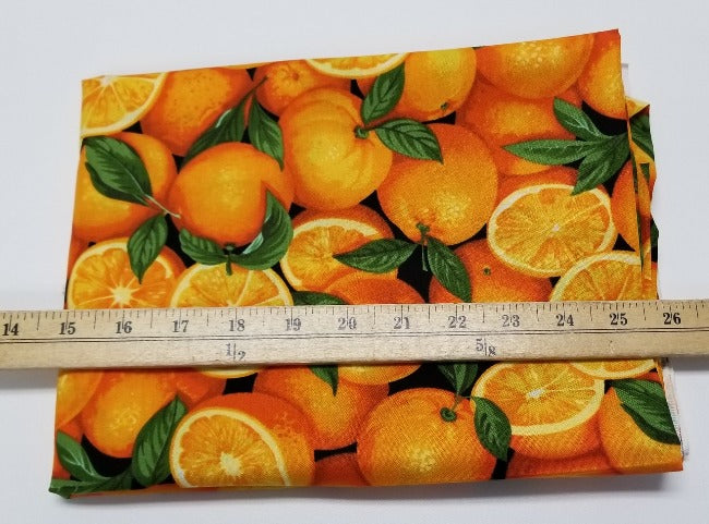 Orange Grove 100% Cotton Woven- By the yard
