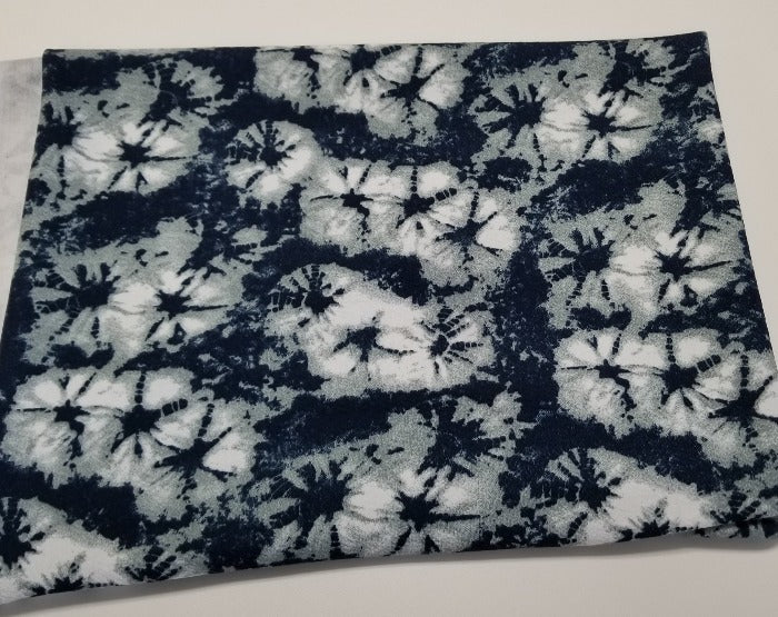 Liverpool Shibori Tie Dye Gray and Navy Knit- By the yard
