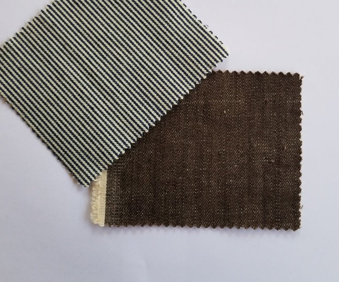 Fashion Denim Non-Stretch Brown 100% Cotton Woven From Japan- By the Yard