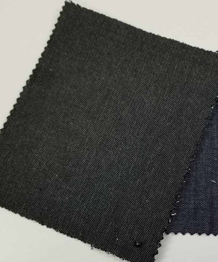 Cone Mills S-Gene Stretch Black Fashion Denim from Recycled Bottles-10.25 oz- Sold by the yard