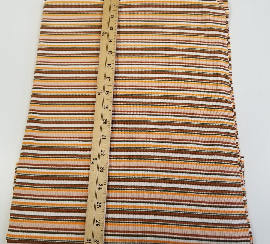 Designer Indio Yellow Multi-Stripe Rib Knit- By the yard