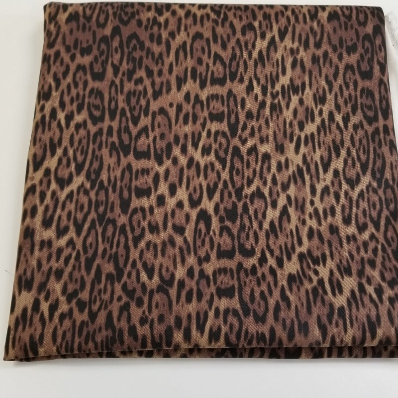 End of Bolt: 2-3/4th yards of Designer Non-Stretch Animal Skin Twill- Remnant