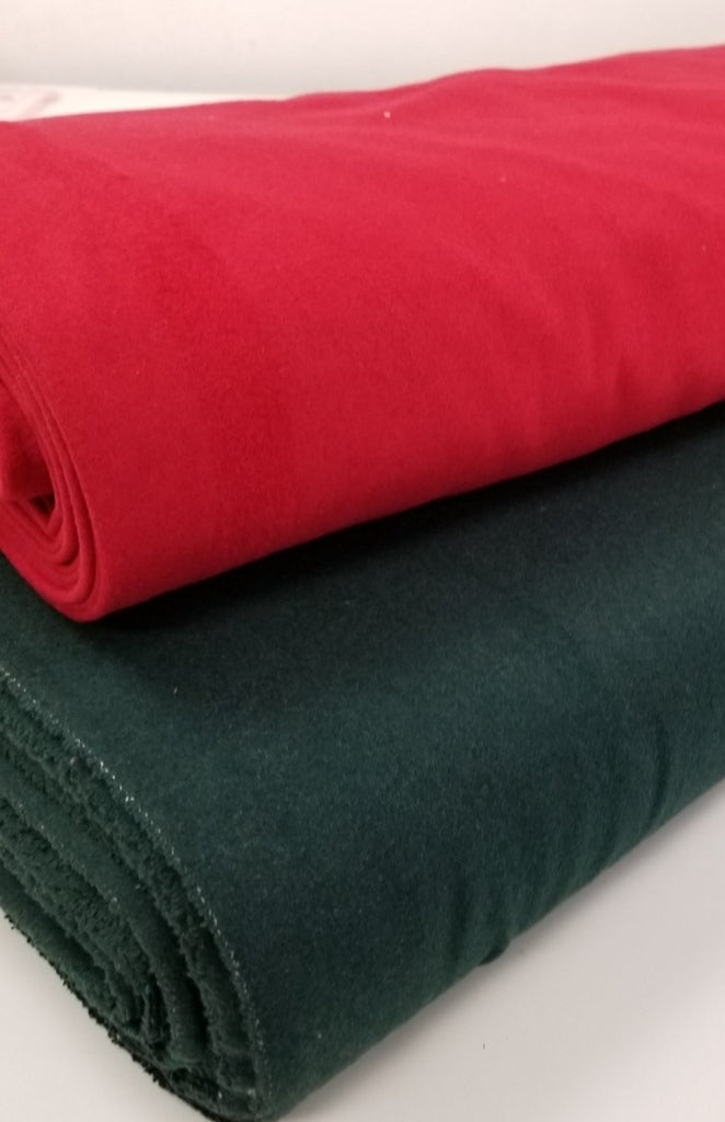 Famous Maker Premium Holiday Red Wool Blend Coating Woven-Sold by the yard