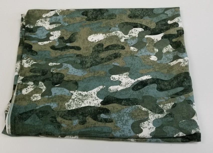 Double Brushed Poly Spandex Camo Knit- by the yard