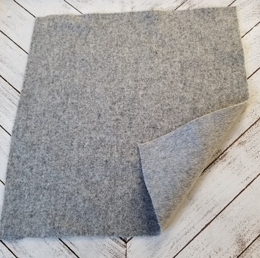 End of Bolt: 3.5 yards of Famous Maker Premium Heather Gray Wool Blend Coating Woven-Remnant