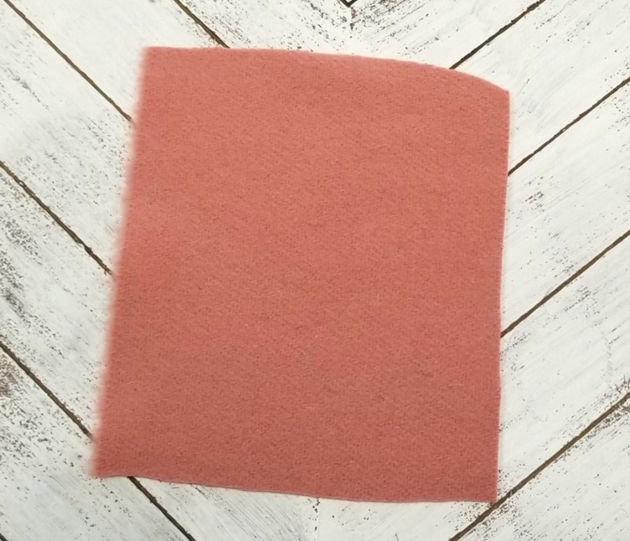 Famous Maker Premium Salmon Pink Solid Wool Blend Melton Coating Woven 15.5 oz -Sold by the yard