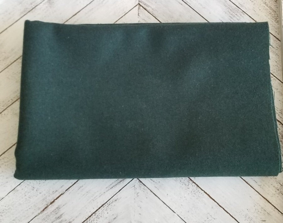 Famous Maker Premium Forest Green Wool Blend Coating Woven-Sold by the yard