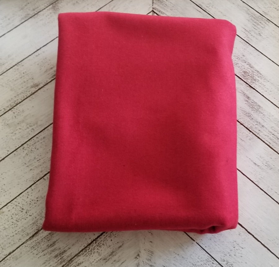 End of Bolt: 1.5 yards of Famous Maker Premium Holiday Red Wool Blend Coating Woven-Remnant