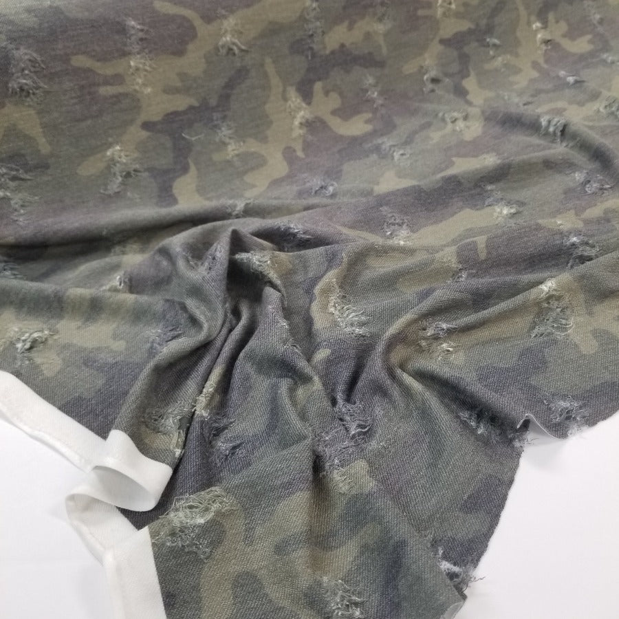 Designer Grunge Cameron Camo Knit-Sold by the yard