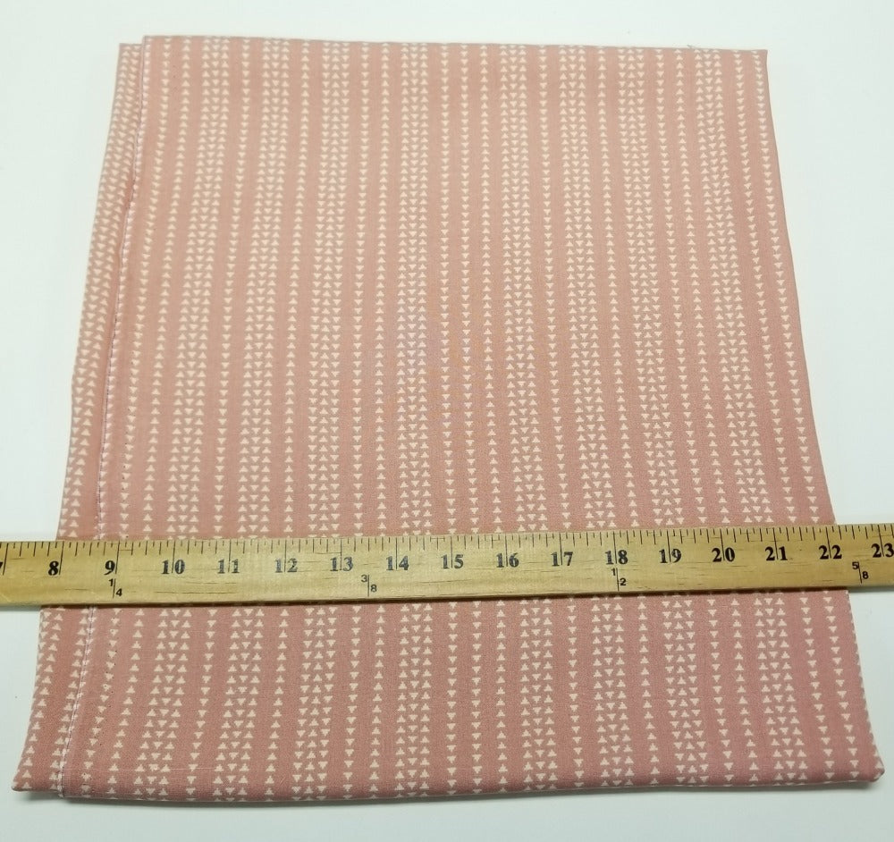 Designer Deadstock Pink Cream Triangle Rayon Challis Woven- Sold by the yard