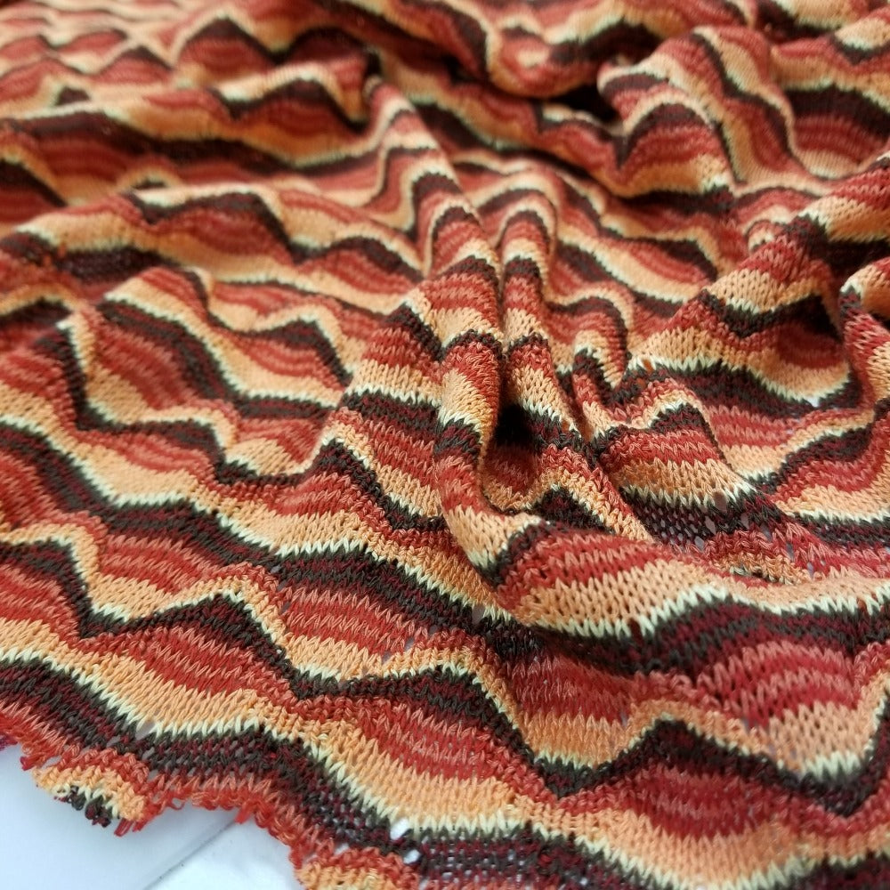 Designer Deadstock 70's Retro Inspired Open Weave Sweater Knit- Sold by the yard