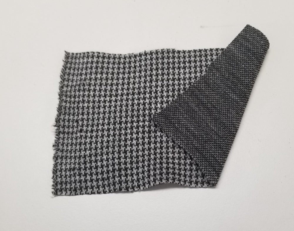 Designer Deadstock Black & Ivory Ponte Knit- Sold by the yard