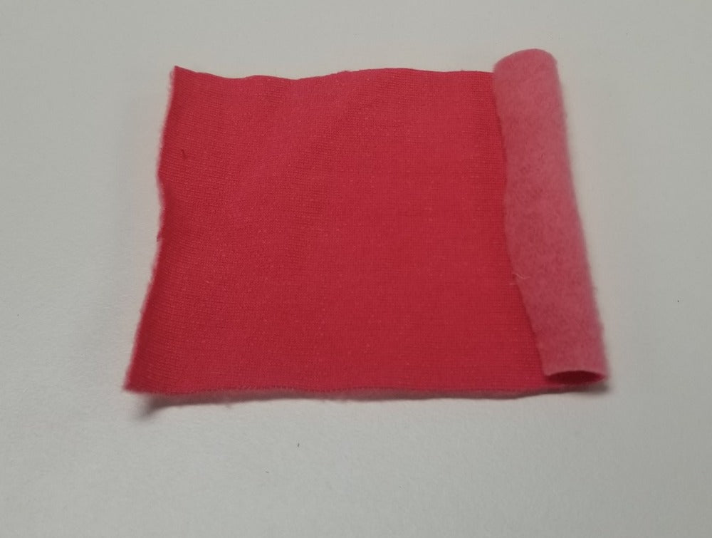 Designer Deadstock Organic Cotton Tencel Blend Pink Soft Fleece Knit-Sold by the yard