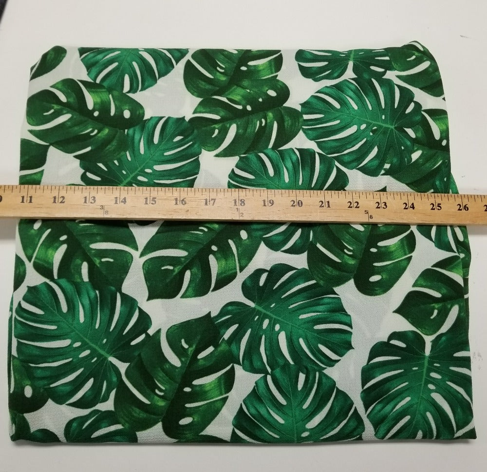 Designer Deadstock Arcadia Monstera Blousewear Woven- Sold by the yard