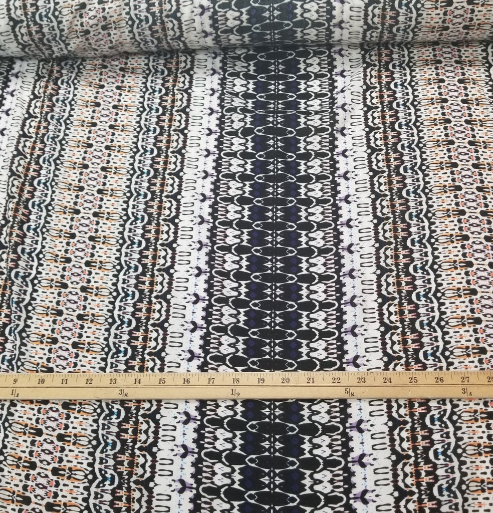 End of Bolt: 3.5 yards of Designer Deadstock Rhapsody  Rayon Challis Woven-Remnant