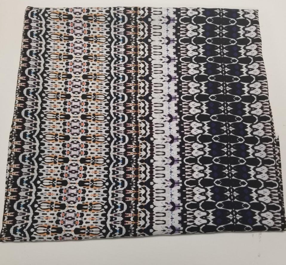 Designer Deadstock Rhapsody  Rayon Challis Woven- Sold By the yard