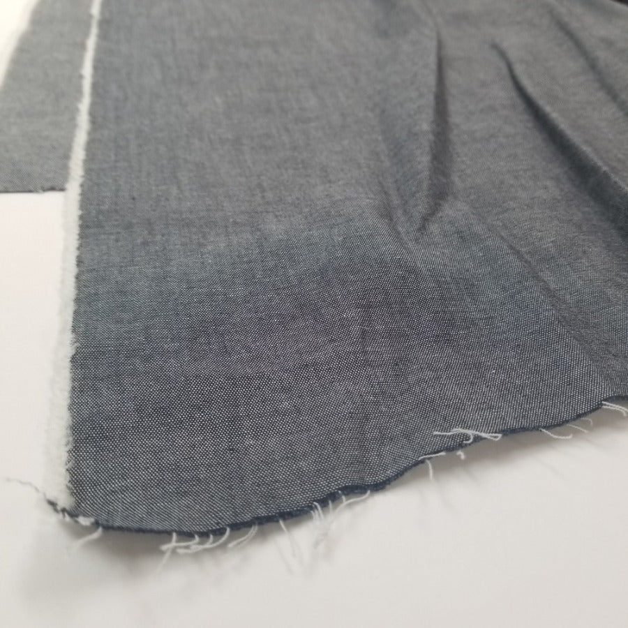 End of Bolt: 2-1/4th yards of Fashion Cone Mills Indigo Cotton Chambray Shirting Woven 5.25oz- Remnant