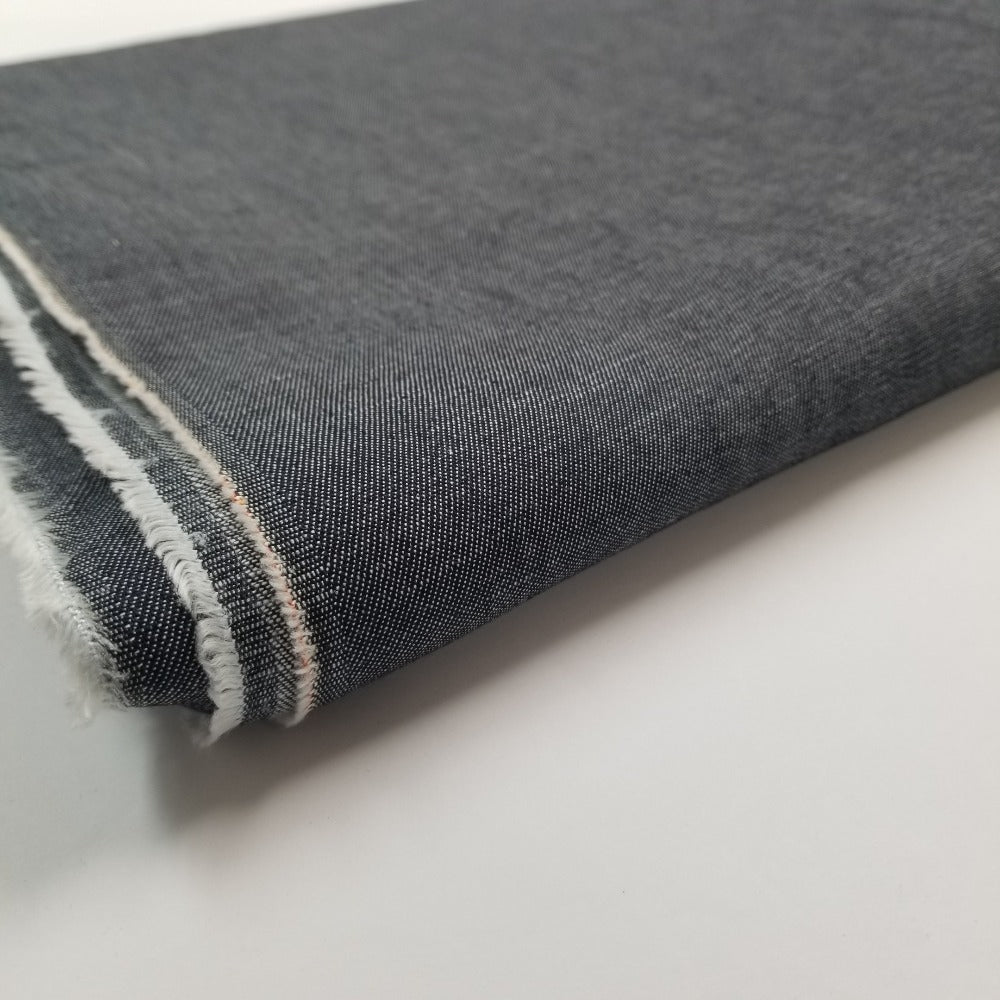 End of Bolt: 2-1/8th yards of Cone Mills Lightweight Denim 6.5 oz  Non-Stretch Woven- remnant