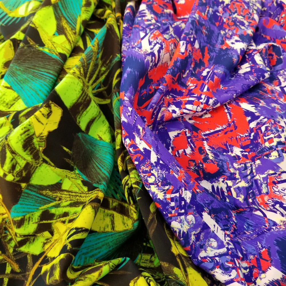 Designer Deadstock Rio Abstracta Swim/Performance Wear Knit-Sold by the yard