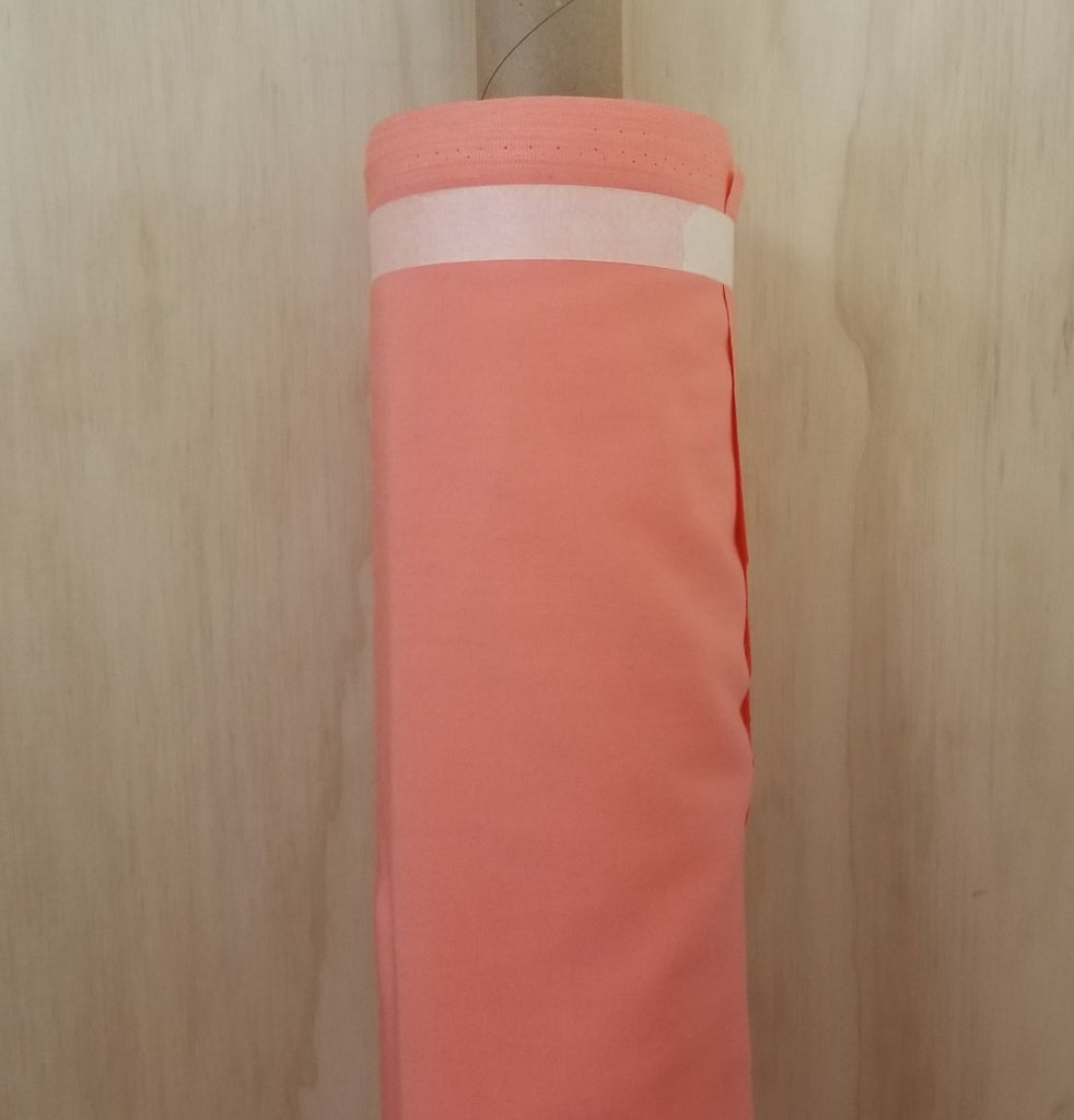 Designer Deadstock Peach Rayon Tencel Twill Woven- Sold by the yard