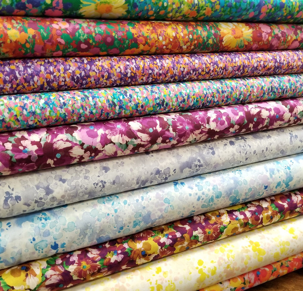 Fashion Painterly Rosalina Petals Cotton Woven 3.3oz -Sold by the yard