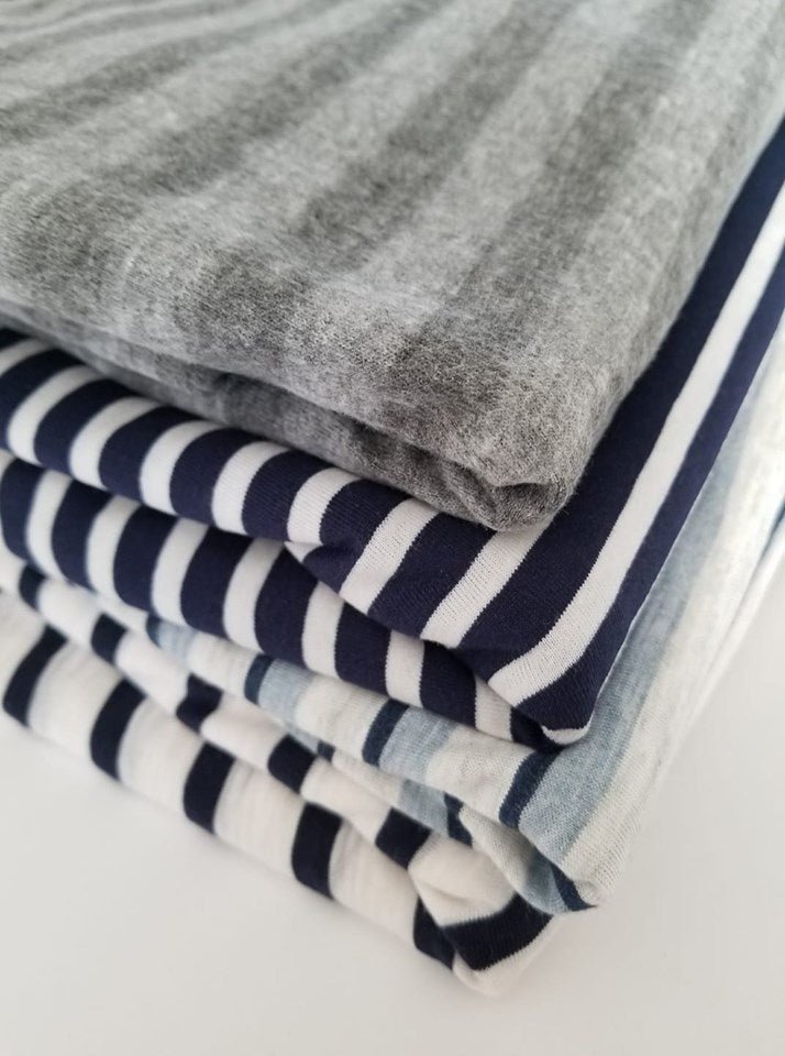 End of Bolt: Mystery Stripe Knit Gift Pack-4 yards.