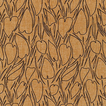 Driftless Roasted Pecan Cotton Linen Woven- By the Yard