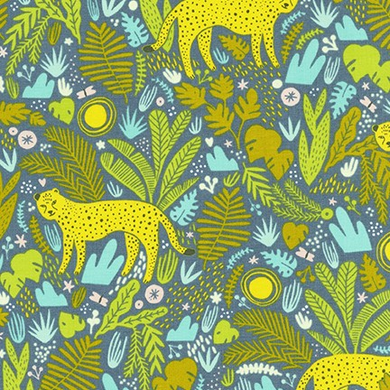 Kaufman Wild and Free In the Jungle Tiger in Shadow 100% Cotton Woven- By the yard