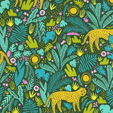 Kaufman Wild and Free In the Jungle Tiger in Forest 100% Cotton Woven- By the yard