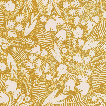 Kaufman Wild and Free Botanical in Sienna 100% Cotton Woven- By the yard