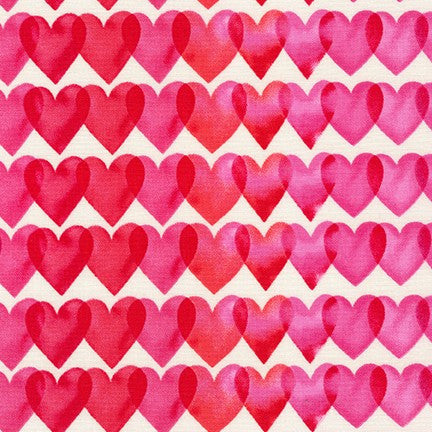 End of BOlt: 1 yard of Heart Novelty Print by Margaret Berg for Robert Kaufman