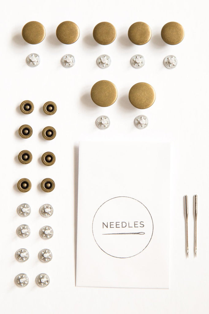 Notions by Closet Core Patterns: Button-Fly Kit- Antique Brass