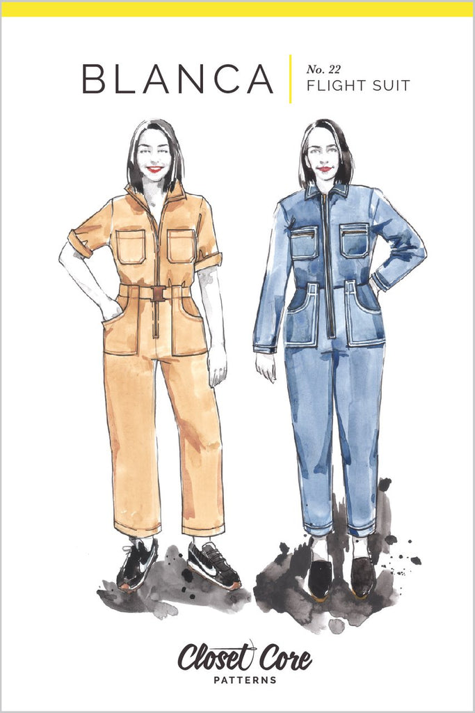 Pattern for Garment Making: Blanca Flight Suit by Closet Core Patterns